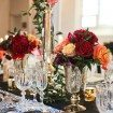 red and black wedding - centrepieces