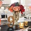 Modern Red Black Wedding - table number