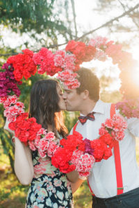 valentine's day wedding ideas - pink and red flowers