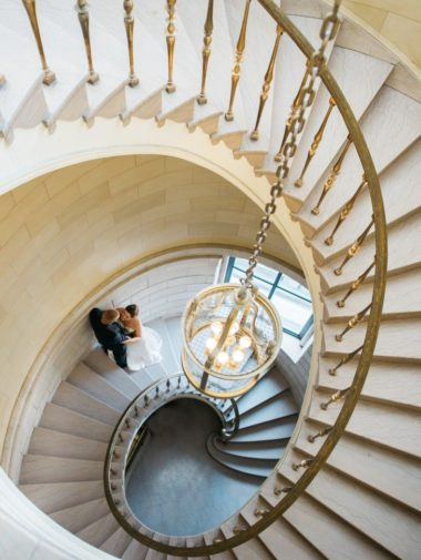 Romantic Winnipeg Wedding Inspired by Italy - extravagant staircase