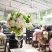 Vintage Garden Party Wedding In Vancouver - large ceremony vases