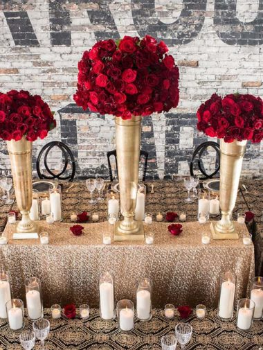 luxurious toronto shoot with gold details - reception