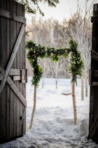 rustic winter shoot with woodsman details - rustic decor