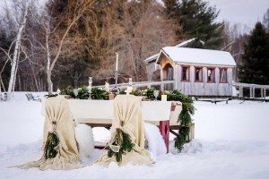 rustic winter shoot with woodsman details - reception