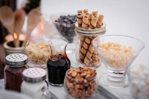 rustic winter shoot with woodsman details - sweets