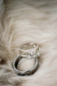 rustic winter shoot with woodsman details - rings