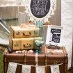 A Charming Vintage Garden Wedding in Calgary, Alberta - Suitcases and Chalkboard Signs