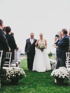 A Dreamy, Whimsical Wedding in Caledon, Ontario - Bride Walking Down Aisle with Father