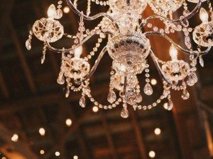A Dreamy, Whimsical Wedding in Caledon, Ontario - Crystal Chandelier