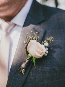 A Dreamy, Whimsical Wedding in Caledon, Ontario - Groom's Boutonniere