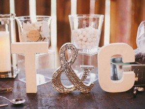 A Dreamy, Whimsical Wedding in Caledon, Ontario - Wooden Letters