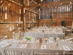 A Dreamy, Whimsical Wedding in Caledon, Ontario - Wedding Reception Tables and Lights