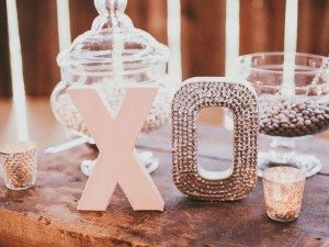 A Dreamy, Whimsical Wedding in Caledon, Ontario - Wooden Letters and Candy