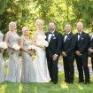 A Glam Backyard Wedding in British Columbia - Bride and Groom and Wedding Party