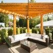 A Glam Backyard Wedding in British Columbia - Lounge at Ceremony Venue
