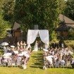 A Glam Backyard Wedding in British Columbia - Overview of Wedding Ceremony Reception