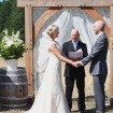 A Lovely Rustic Barn Wedding in British Columbia - Bride and Groom During Ceremony