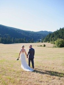 A Lovely Rustic Barn Wedding in British Columbia - Couple Holding Hands