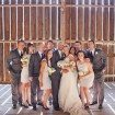 A Lovely Rustic Barn Wedding in British Columbia - Couple and Wedding Party in Barn