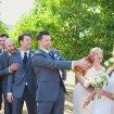 A Lovely Rustic Barn Wedding in British Columbia - Groomsmen and Chicken