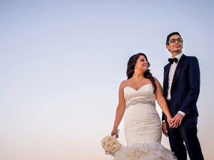 An Elegant Wedding at the Montreal Science Centre - Bride and Groom