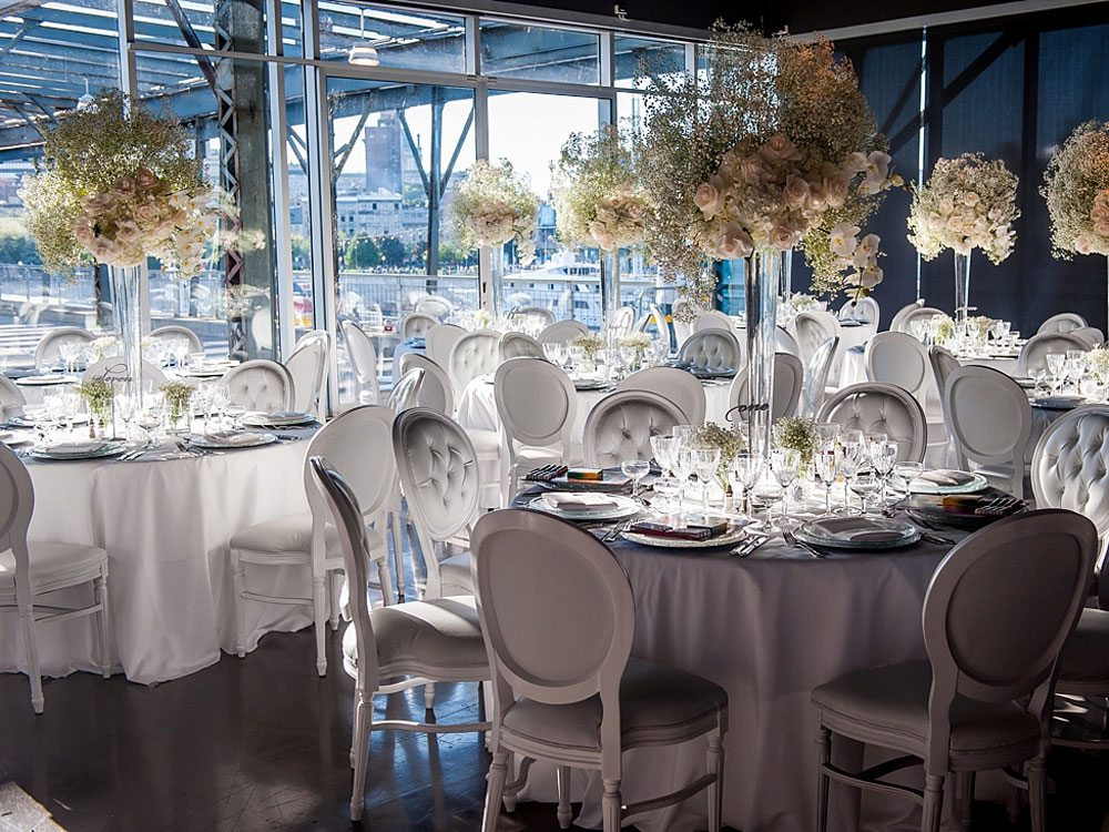 An Elegant Wedding at the Montreal Science Centre - Reception Decor