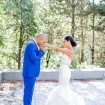 colourful wedding at ubc boathouse - bride and groom