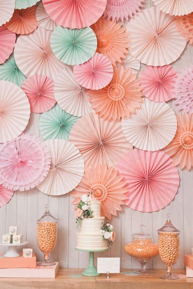 adorable bridal shower decor ideas pinwheels