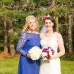colourful seaside wedding - bride and maid of honour