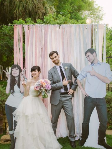 selfie station ideas - streamers and lifesize cutouts