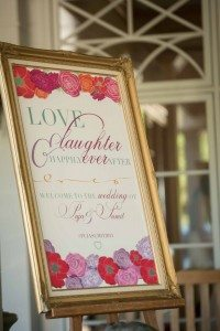 A Colourful and Glamorous Indian Wedding - Sign