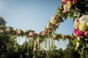 A Colourful and Glamorous Indian Wedding - Ceremony Flowers