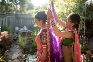 A Colourful and Glamorous Indian Wedding - Bride Getting Ready