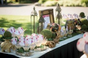 A Colourful and Glamorous Indian Wedding - Drinks Table