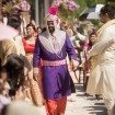 A Colourful and Glamorous Indian Wedding - Groom Walking Down Aisle