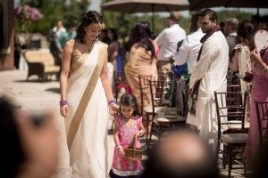 A Colourful and Glamorous Indian Wedding - Walking Down Aisle