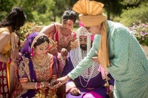 A Colourful and Glamorous Indian Wedding - Bride and Groom Ceremony