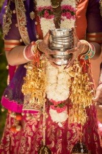 A Colourful and Glamorous Indian Wedding - Bride Ceremony