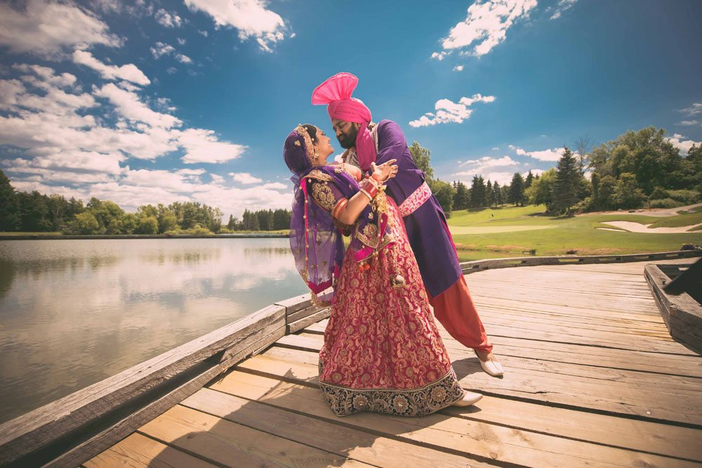 A Colourful and Glamorous Indian Wedding - Bride and Groom