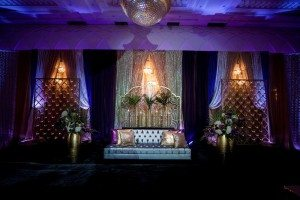A Colourful and Glamorous Indian Wedding - Reception Decor