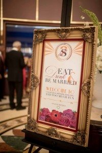 A Colourful and Glamorous Indian Wedding - Food Sign