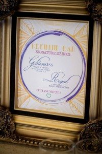 A Colourful and Glamorous Indian Wedding - Drinks Sign