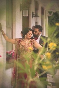 A Colourful and Glamorous Indian Wedding - Bride and Groom Reception