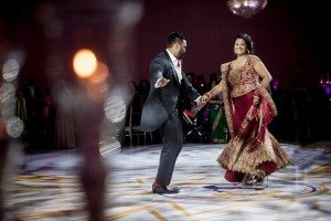 A Colourful and Glamorous Indian Wedding - Bride and Groom Dance