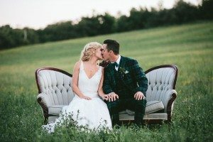 An Elegant Farm Wedding in Creemore - Bride and Groom
