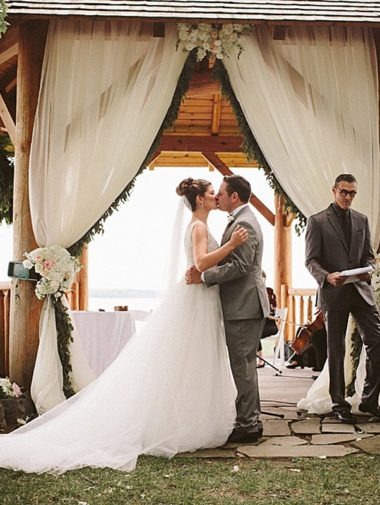 A Country-Chic Wedding in Montebello, Quebec - Bride and Groom