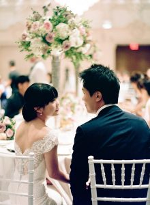 An English Garden Themed Wedding in Vancouver - Bride and Groom