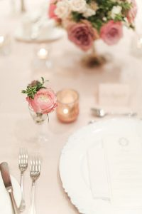An English Garden Themed Wedding in Vancouver - Table Setting