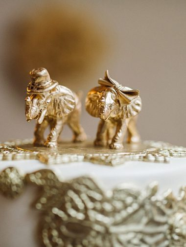 A Glam Gold Wedding in Quebec - Cake Topper