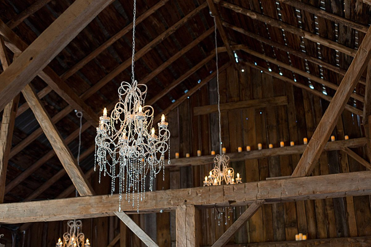 A Country Chic Wedding in Ottawa - Chandeliers